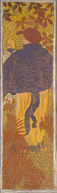 , 'Femmes au jardin, Femme à la pèlerine (Women in a Garden, Woman in a Blue Pelerine),' 1890-1891, Musée d'Orsay