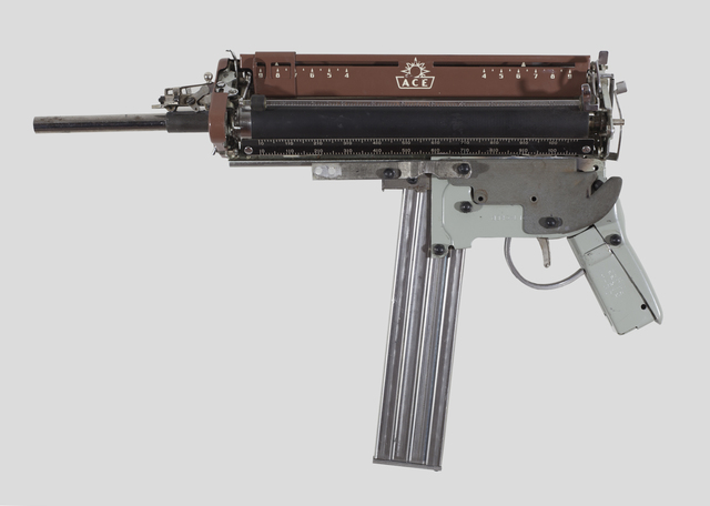 , 'MIGHTIER THAN -ACE SUBMACHINE GUN,' 2017, MAIA Contemporary