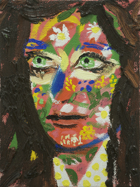 , 'Girl With Flower Paint,' 2016, BravinLee programs