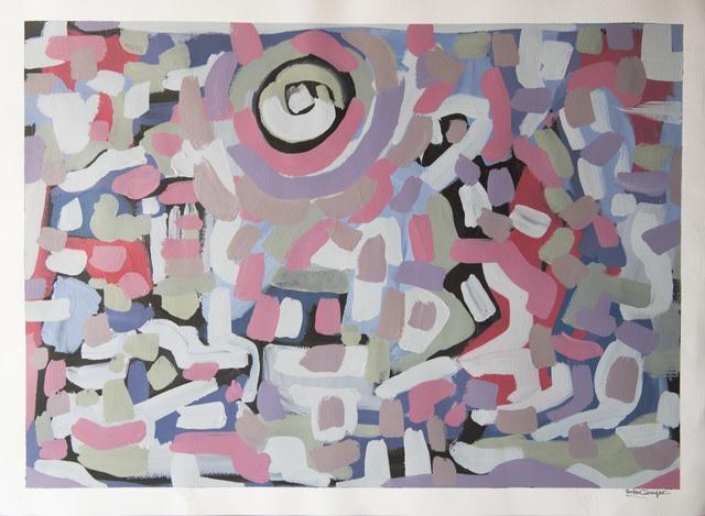 Bashir Qonqar, 'Blurred Reflection ', 2016, Painting, Acrylic on Paper, Bab idDeir Art Gallery