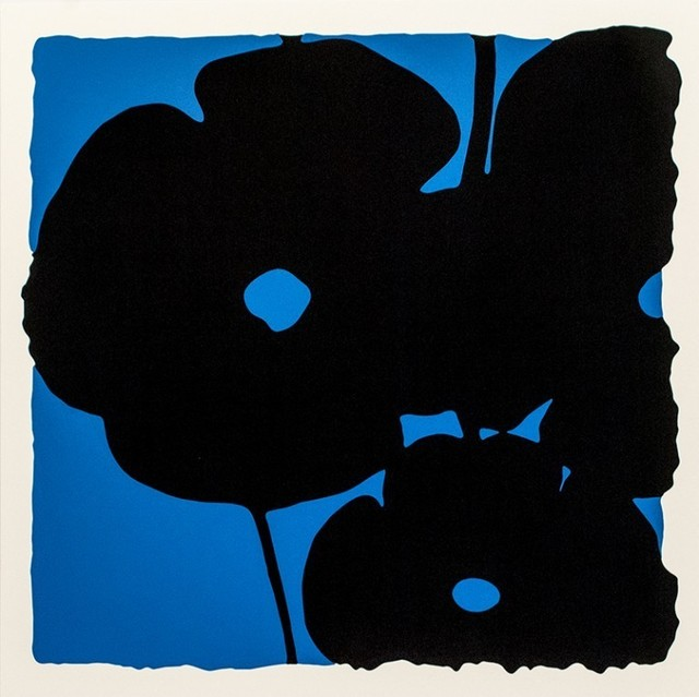 Donald Sultan, 'Reversal Poppies - Blue and Black', 2015, Haw Contemporary