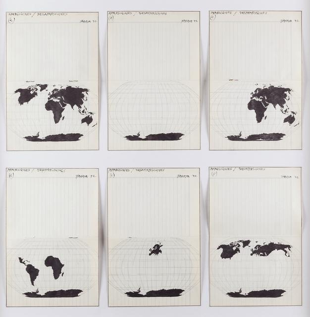 , 'Apariciones/ desapariciones (a,b,c,d,e,f),' 1972, Henrique Faria Fine Art