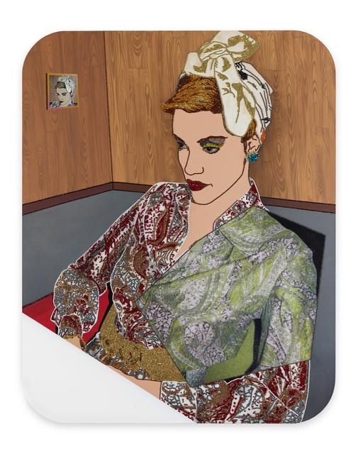 Mickalene Thomas, 'Portrait of Vanessa #2', 2017, Galerie Nathalie Obadia
