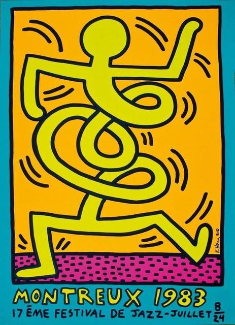 Keith Haring, 'Montreux Jazz Festival (Yellow Man).', 1983, Rhodes