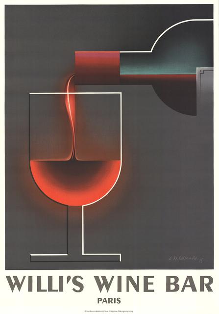 A.M. Cassandre, 'Willi's Wine Bar', 1984, ArtWise