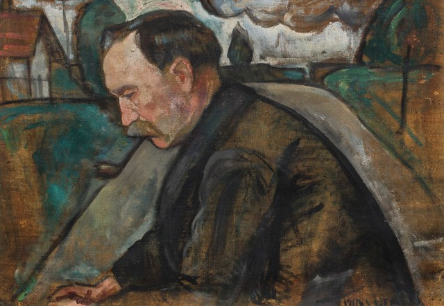 Nathan Grunsweigh, 'Portrait d'homme à la pipe', Leclere