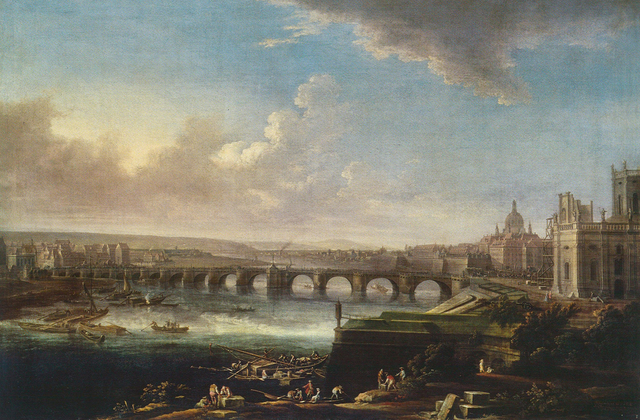 , 'View of Dresden with Augustus Bridge,' 1746, Belvedere Museum