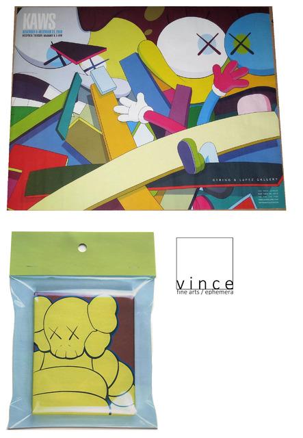 "KAWS, '2-Exhibition Invites / Posters: 1.)""KAWS"", 2008, Gering & Lopez Gallery NYC & 2.)""KAWS EXHIBITION-ORIGINALFAKE"", 2003, Bape-Gallery Japan. ', 2003 & 2008, VINCE fine arts/ephemera"