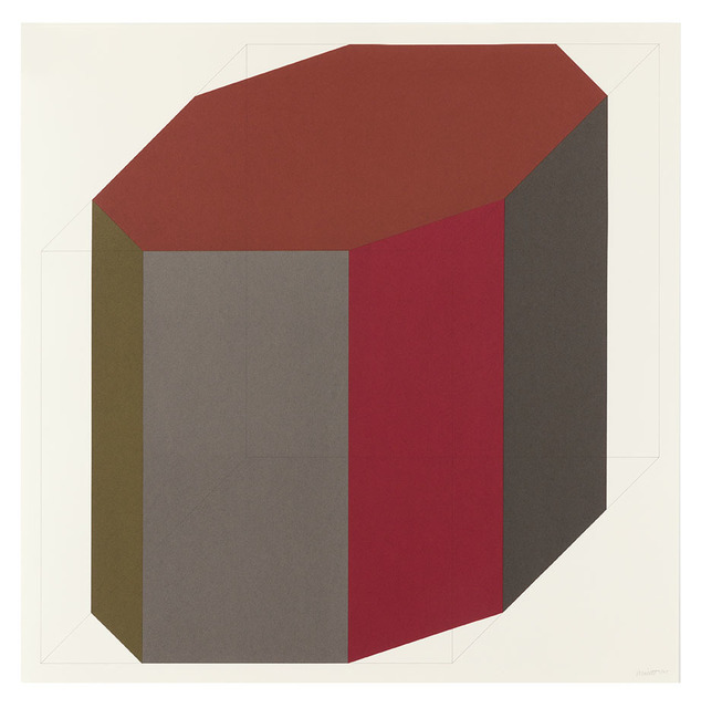 Sol LeWitt, 'Forms Derived from a Cube (Colors Superimposed) 8', 1991, Alan Cristea Gallery