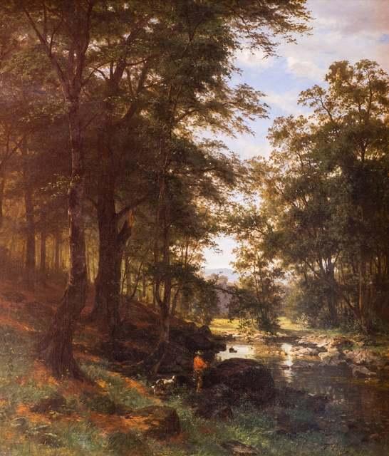 Fritz Ebel, 'Idyllic Scene in a Beech Grove', 1868, Angels Art Collection