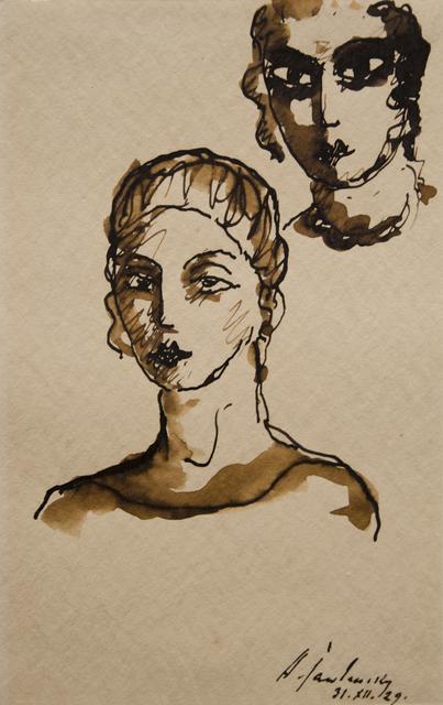, 'Doppelportrait Lisa Kümmel,' 1929, Galerie Schwarzer