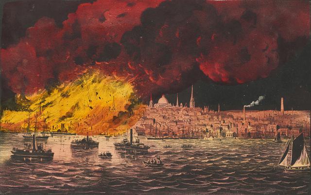 , 'The Great Fire at Boston, Nov. 9 & 10, 1872,' 1872, Clark Art Institute