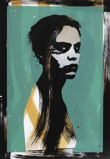 Eelus, 'She is Beyond Good and Evil (Green)', Mixed Media, Spray paint, acrylic and screenprint in colours, Forum Auctions
