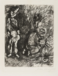 Death and the Woodsman (Plate Eight from Fables of Fontaine) (Cramer 22)