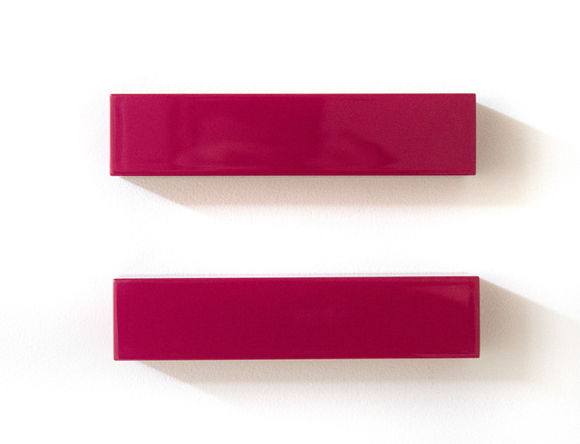 Lori Cozen-Geller, 'Synchrony - bright, glossy, fuchsia, smooth surfaced, abstract, wall sculpture', 2016, Sculpture, Automotive Paint on Wood and Laminate, Oeno Gallery