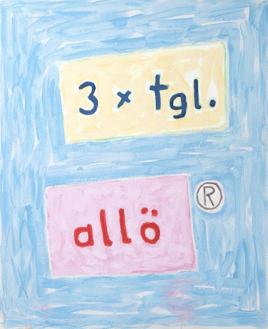 , 'o.T. (3x tgl. allö),' 2007, Ruttkowski;68