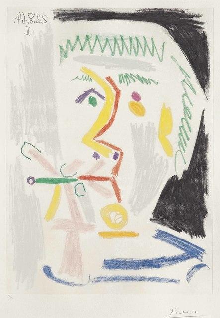 Pablo Picasso, 'Fumeur à la cigarette', 1964, Print, Aquatint in colors, on Richard de Bas paper, Christie's