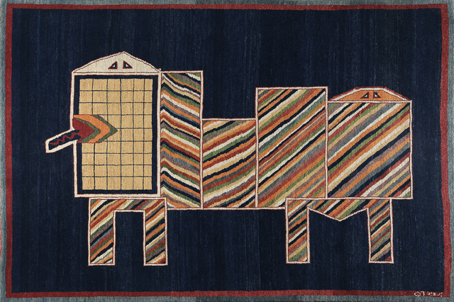 , 'Lion on Blue II,' 1977, Meem Gallery