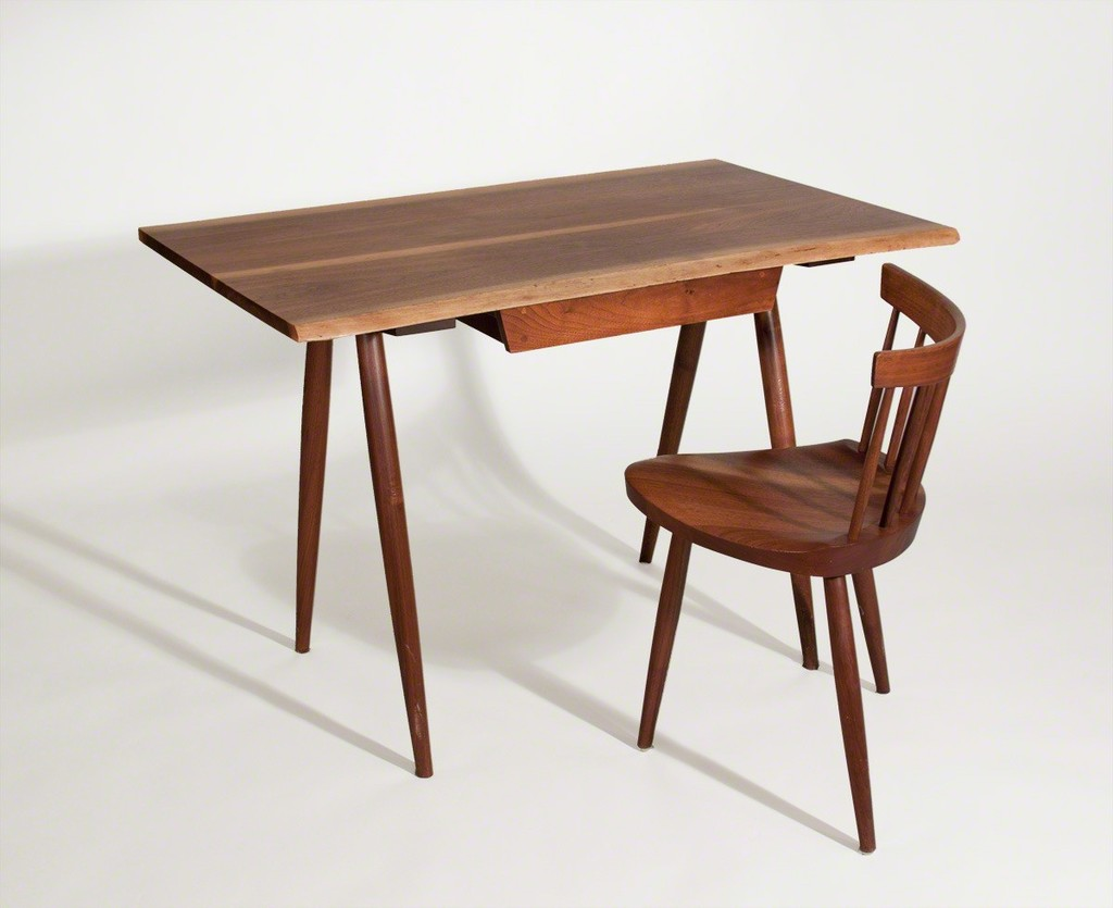 Nakashima Table george nakashima | desk with mira chair (ca. 1958) | artsy
