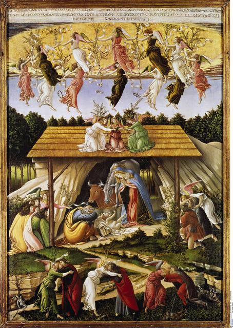 , 'Mystische Geburt,' 1501, Gemäldegalerie Alte Meister