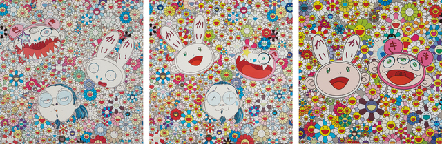 Takashi Murakami, 'Kaikai and Kiki: Lots of Fun; Kaikai Kiki and Me-For Better Or Worse, In Good Times and Bad. The Weather Is Fine; and Kaikai Kiki and Me - The Shocking Truth Revealed!', 2009-2010, Phillips