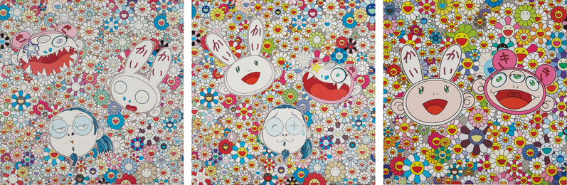 Takashi Murakami, 'Kaikai and Kiki: Lots of Fun; Kaikai Kiki and Me-For Better Or Worse, In Good Times and Bad. The Weather Is Fine; and Kaikai Kiki and Me - The Shocking Truth Revealed!,' 2009-2010, Phillips: Evening and Day Editions (October 2016)