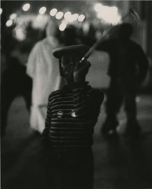 Yasuhiro Ishimoto, 'Untitled (boy with noise maker)', 1950, 1951, printed early 1950s, IBASHO