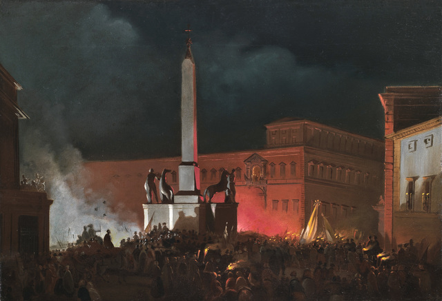, 'Pope Pius IX's Nocturnal Benediction in Piazza del Quirinale,' 1848, Antonacci Lapiccirella Fine Art