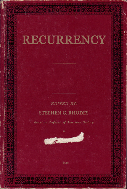 Stephen G. Rhodes, 'Recurrency (Book Cover)', 2006, Print, Digital C-Print, Doyle