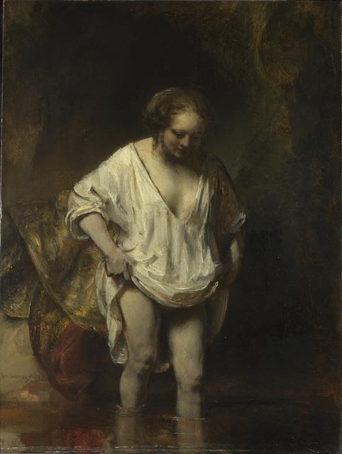 , 'A Woman bathing in a Stream (Hendrickje Stoffels?),' 1654, The National Gallery, London