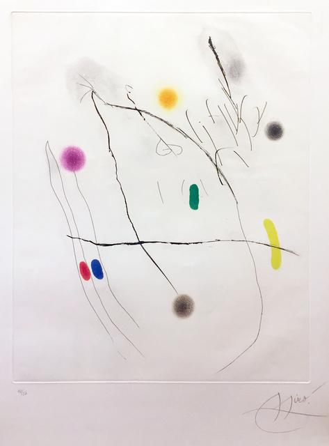 Joan Miró, 'Grave Sur Le Givre II', 1972, Elliott Gallery