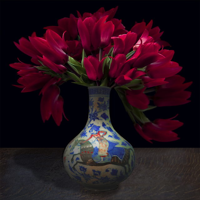 , 'Tulips in a Persian Vessel ,' 2017, Galerie de Bellefeuille