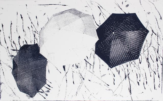 Nate Lowman, 'Untitled (Umbrellas)', 2012, Print, Silkscreen print, EHC Fine Art Gallery Auction
