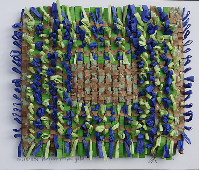 , 'Celebration: Blue, Green, Brown + Gold,' 2015, Paraphé