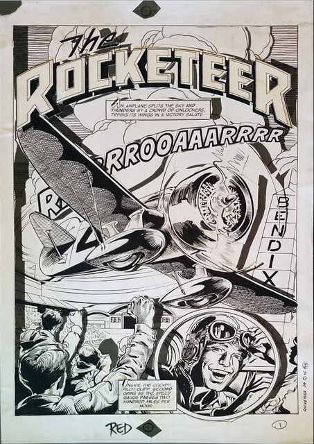 , 'ROCKETEER MOVIE 3D COMIC (1991) #1 pg 1 Title page by Ray Zone & Neal Adams,' 1991, Gallery 30 South