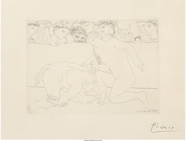 Pablo Picasso, 'Minotaure vaincu, pl. 64, from La Suite Vollard', 1933, Heritage Auctions