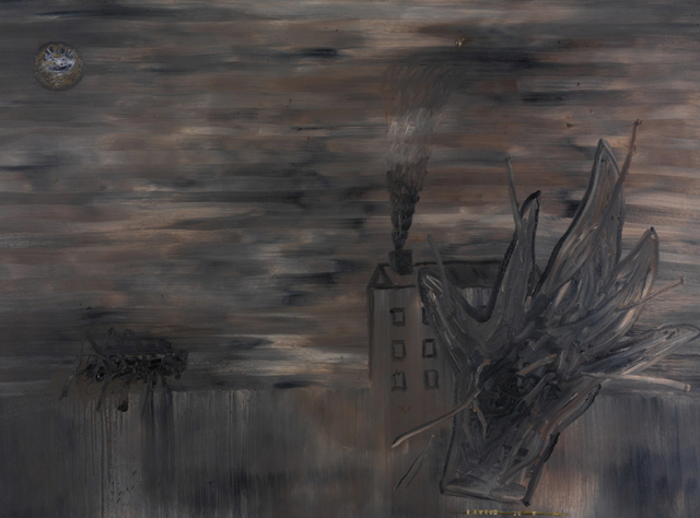 , 'Shadow of a twisted hand across my house,' 1988, At The Gallery