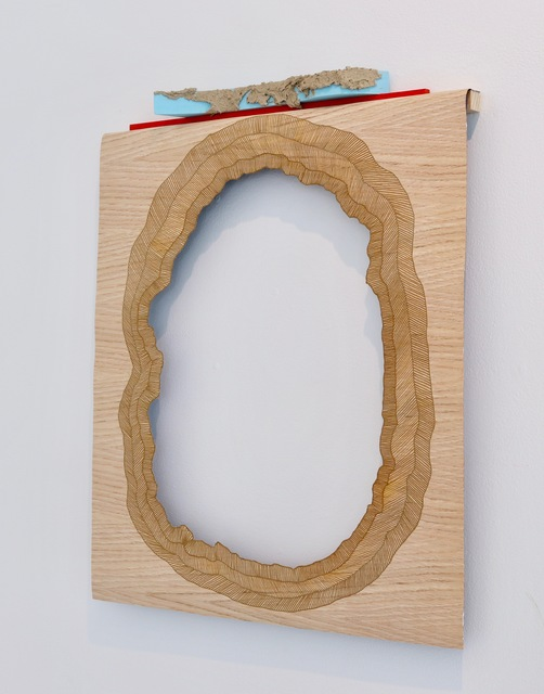 , 'incrustations render the surface,' 2015, James May Gallery