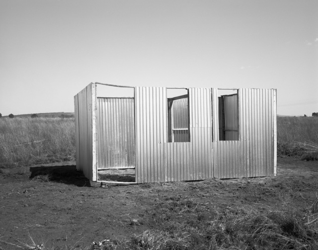 , 'A new shack under construction, Lenasia Extension 9. Lenasia, Transvaal. 5 May 1990,' 1990, Goodman Gallery