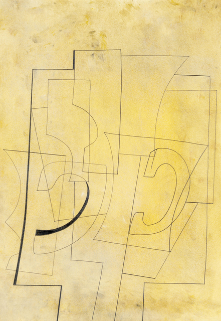 , 'Nov 23-51 (Still Life on a Yellow Ground),' 1951, Offer Waterman