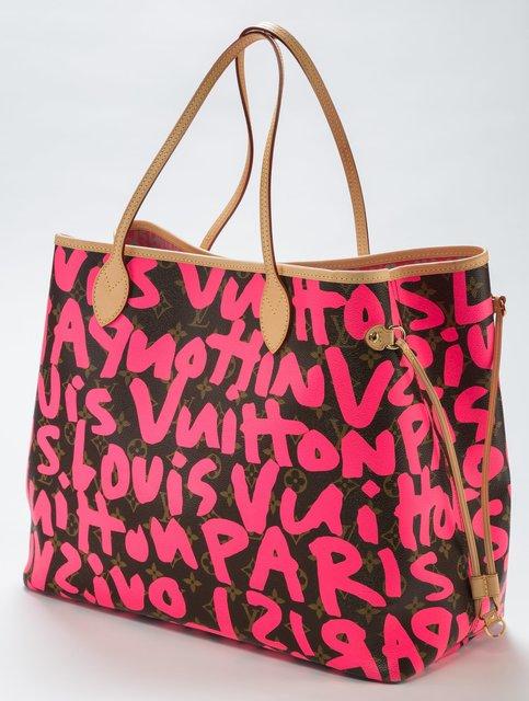 64d5408a8762 Louis Vuitton   Louis Vuitton Limited Edition Pink Monogram Graffiti ...