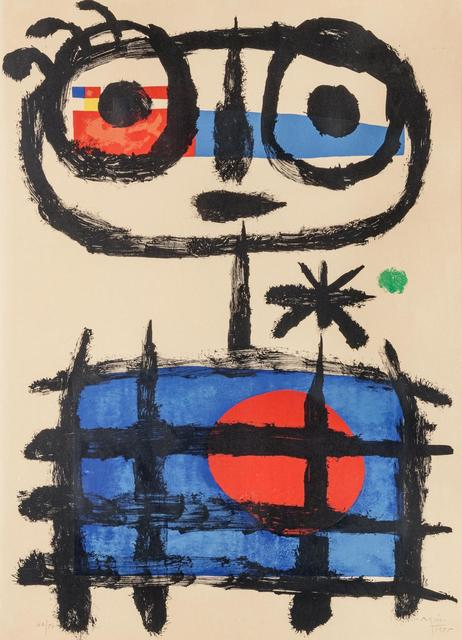 Joan Miró, 'Mangeur de soleil (Sun Eater)', 1955, Hindman