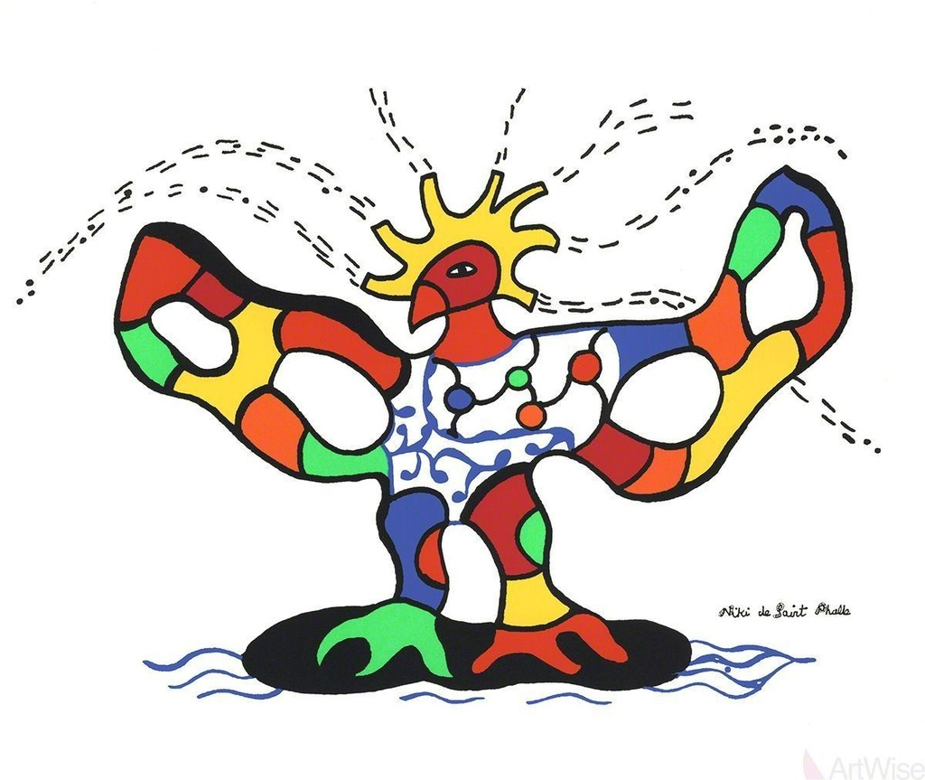 Niki De Saint Phalle Bird Of Fire Available For Sale