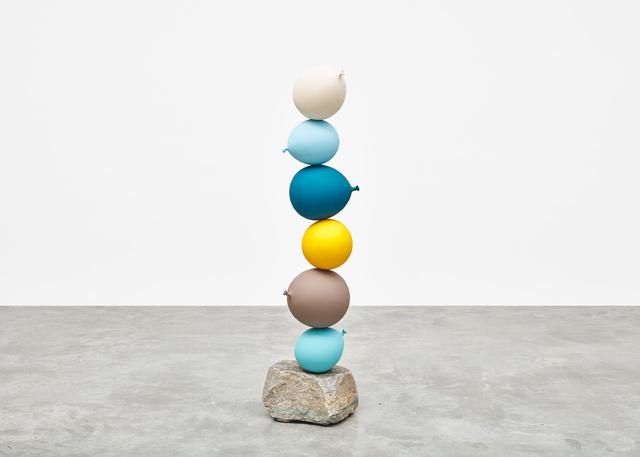 , 'Untitled (Short People) White, Light Blue, Blue, Yellow, Grey, Light Blue,' 2018, Tina Kim Gallery