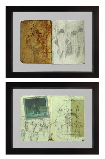 Daniela Mainero, 'Untitled I and II', 2015, Drawing, Collage or other Work on Paper, Paper, wax, carbon pencil, and polaroid, The Art Design Project