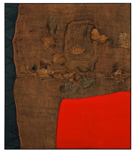 , 'Sacco e rosso (Sack and Red),' ca. 1959, Guggenheim Museum
