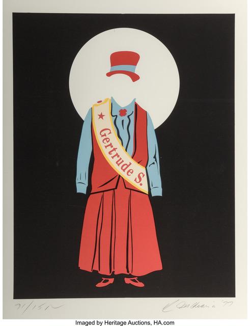 Robert Indiana, 'Gertrude Stein', 1977, Heritage Auctions