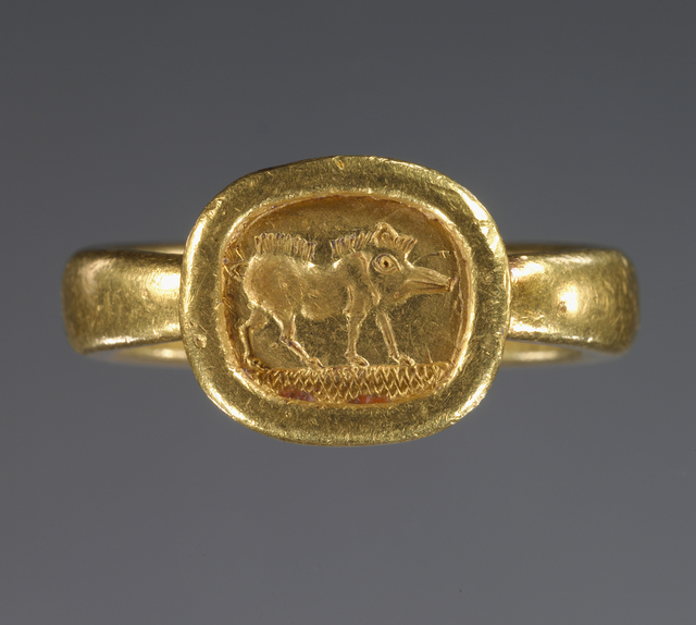 'Ring with engraved bezel', 525 -400 BCE, J. Paul Getty Museum