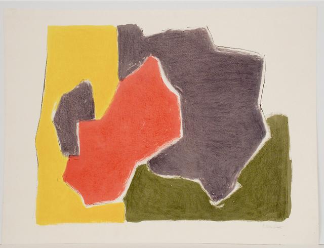 Esteban Vicente, 'Madrigal II', 1982, Print, Lithograph, Sragow Gallery