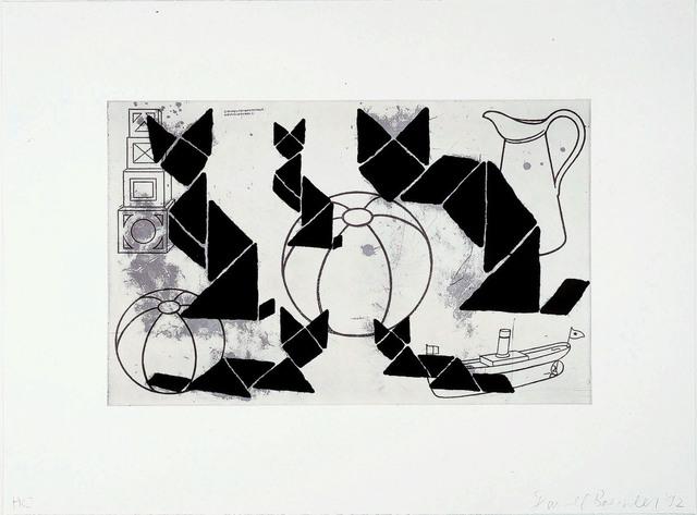"Donald Baechler, 'Untitled (from the portfolio ""The Frozen Leopard I"")', 1992, Galerie Klüser"